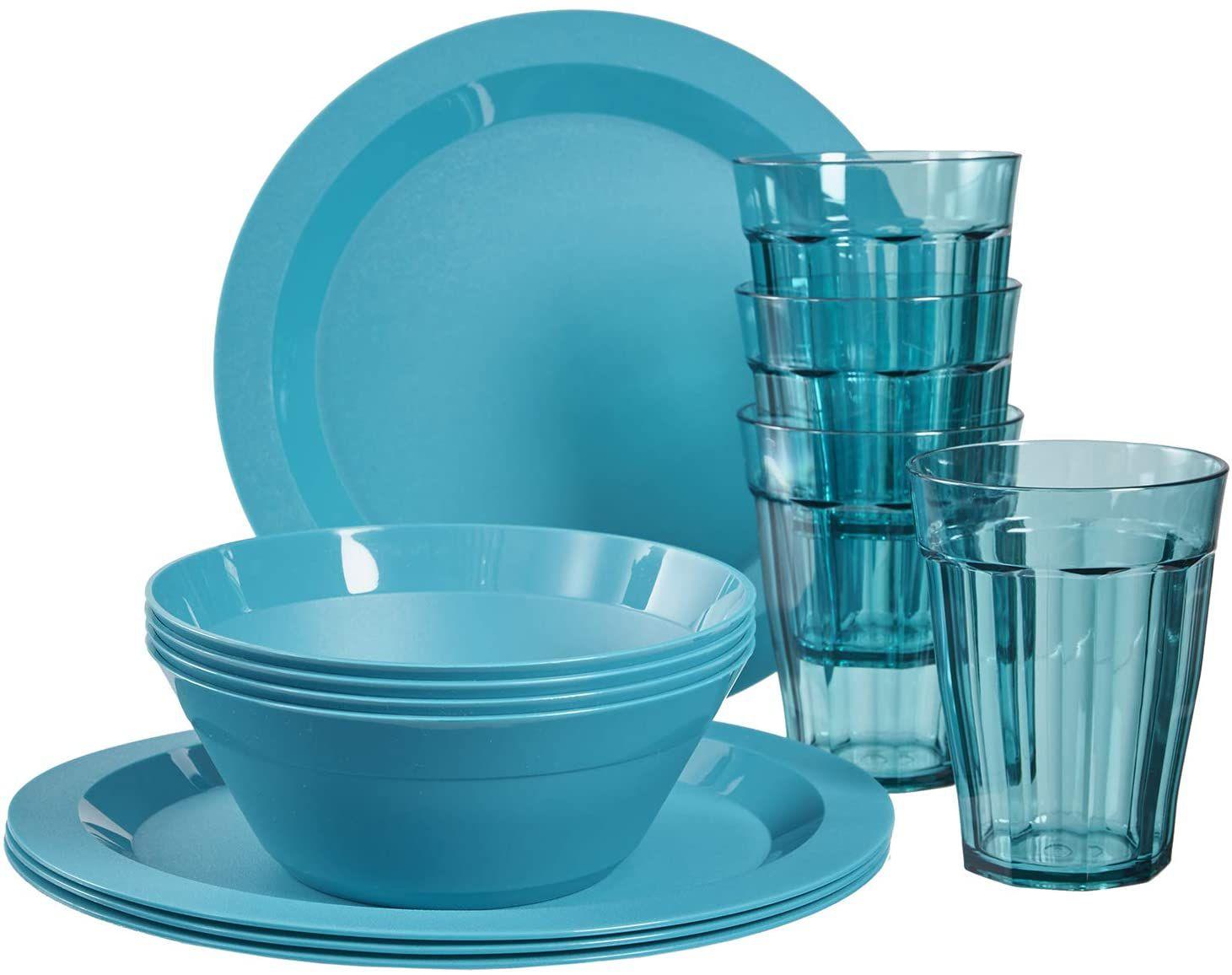 Cambridge Plastic Plate, Bowl and Tumbler Dinnerware