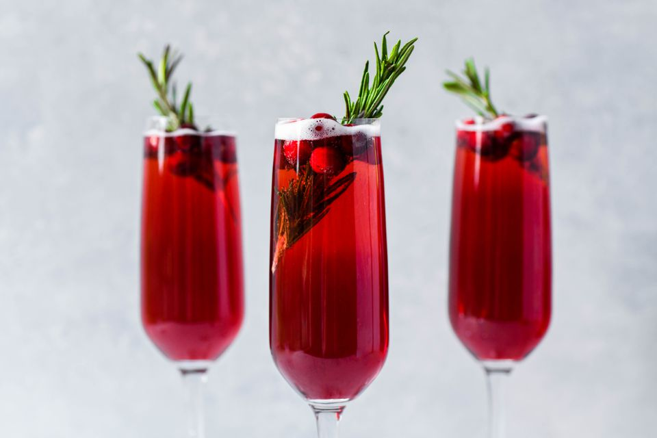 Poinsettia Champagne Cocktail
