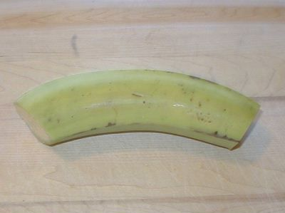 Plantain with ends cut off.
