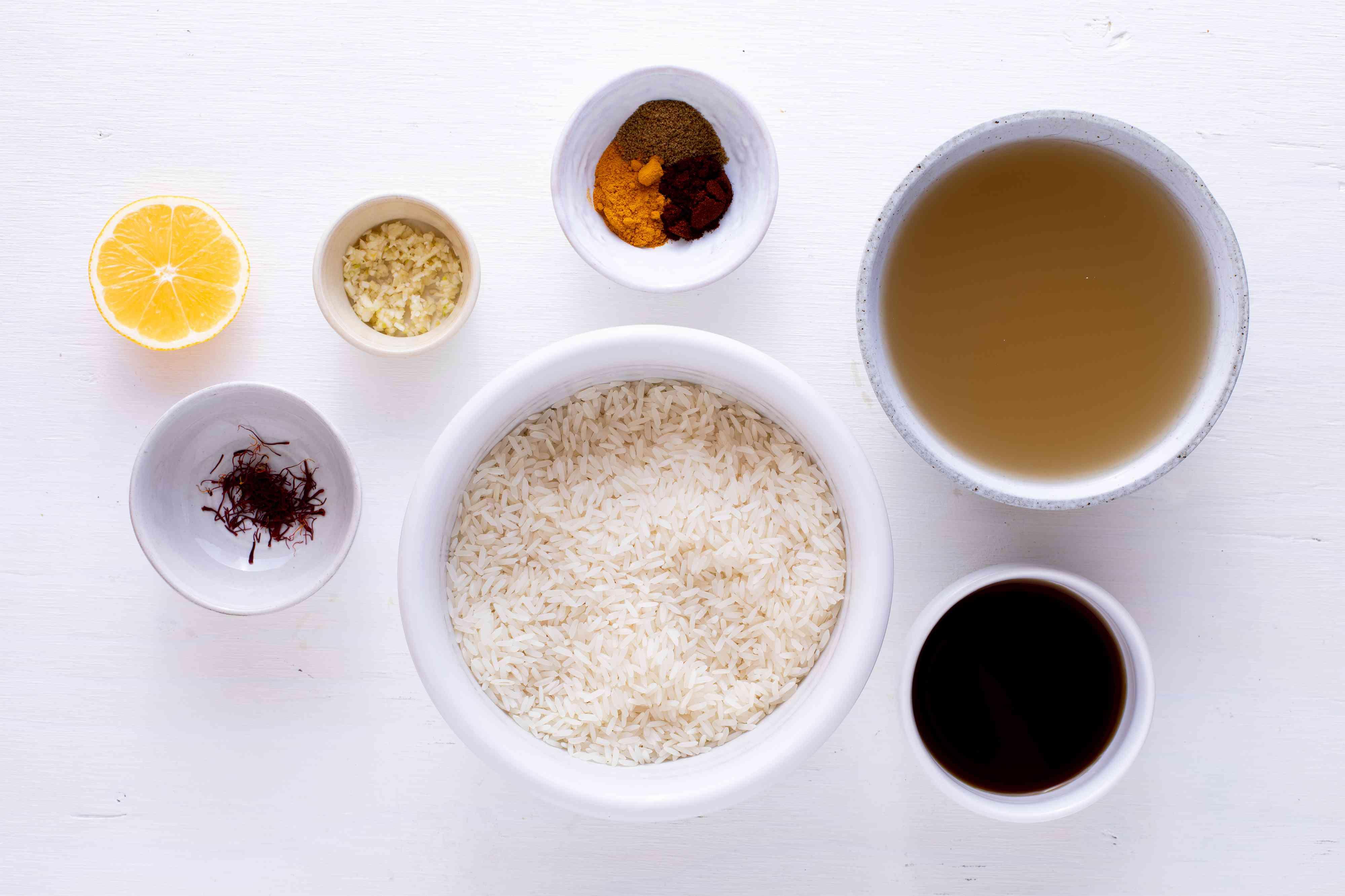 Rice Cooker Saffron Rice ingredients