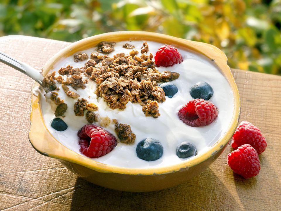 Bowl of Yogurt & Fruit