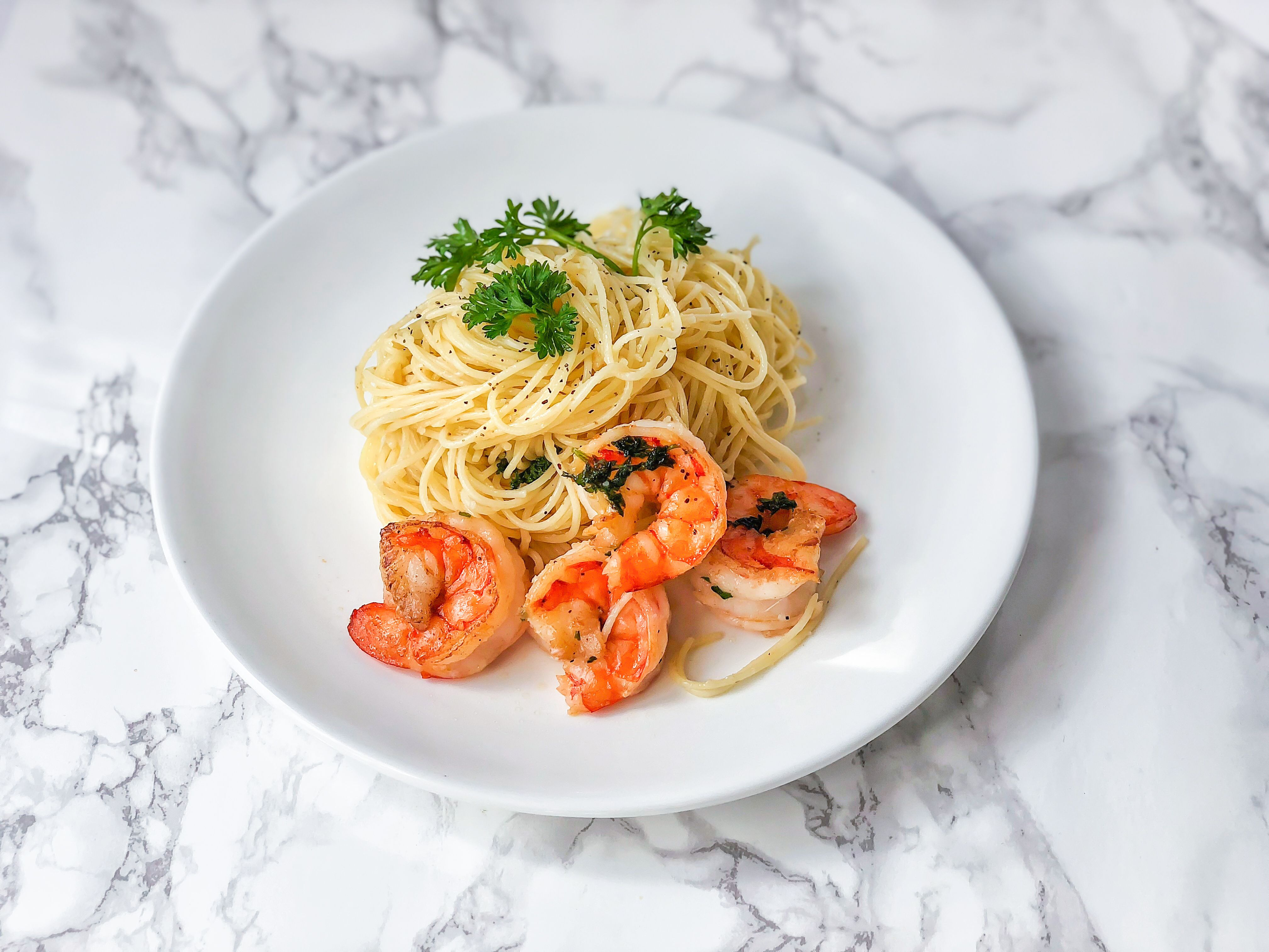 Easy Shrimp With Angel Hair Pasta Recipe