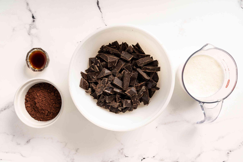 French Dark Chocolate Truffles ingredients