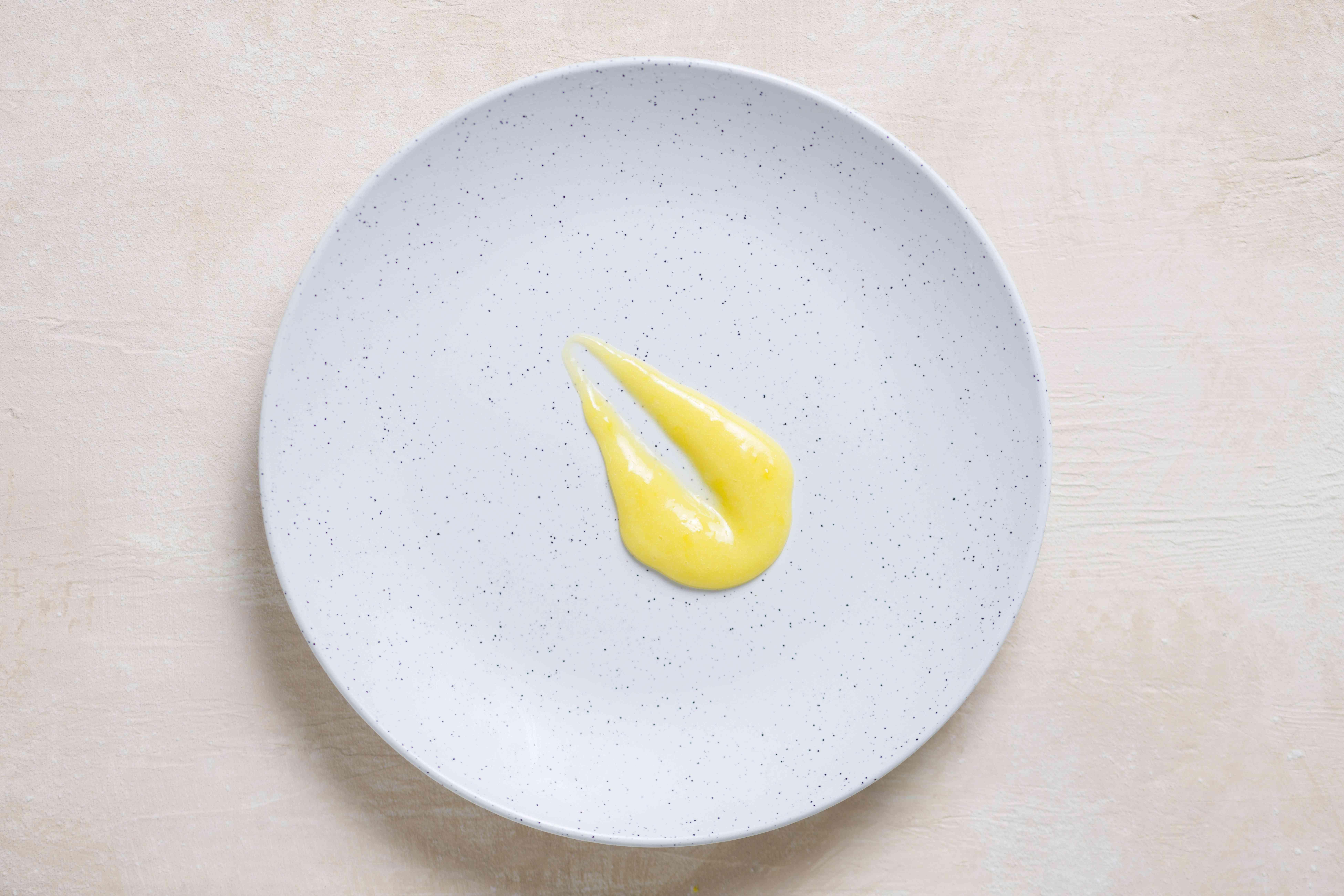 lemon curd on a plate