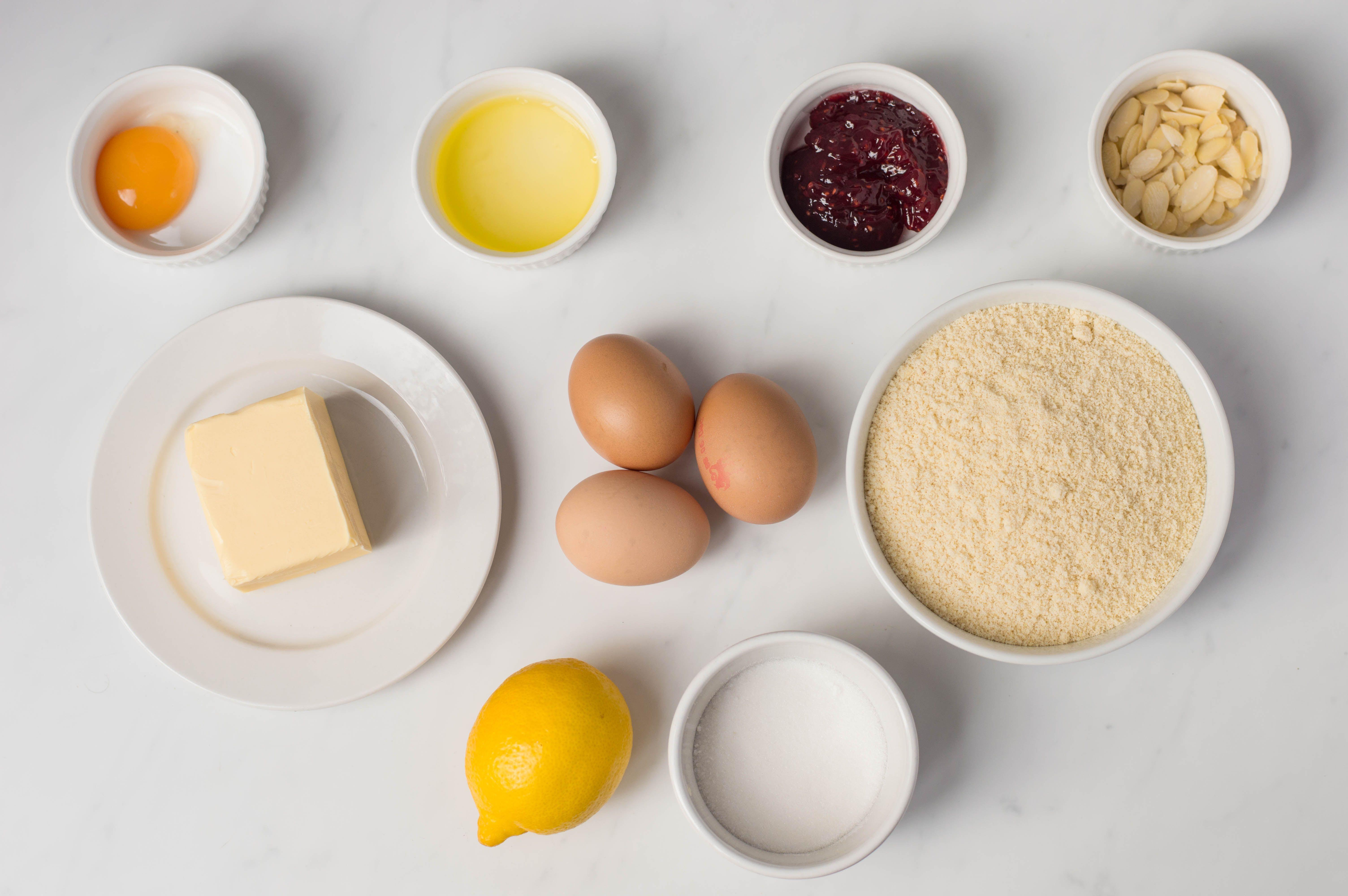 Ingredients for tart filling
