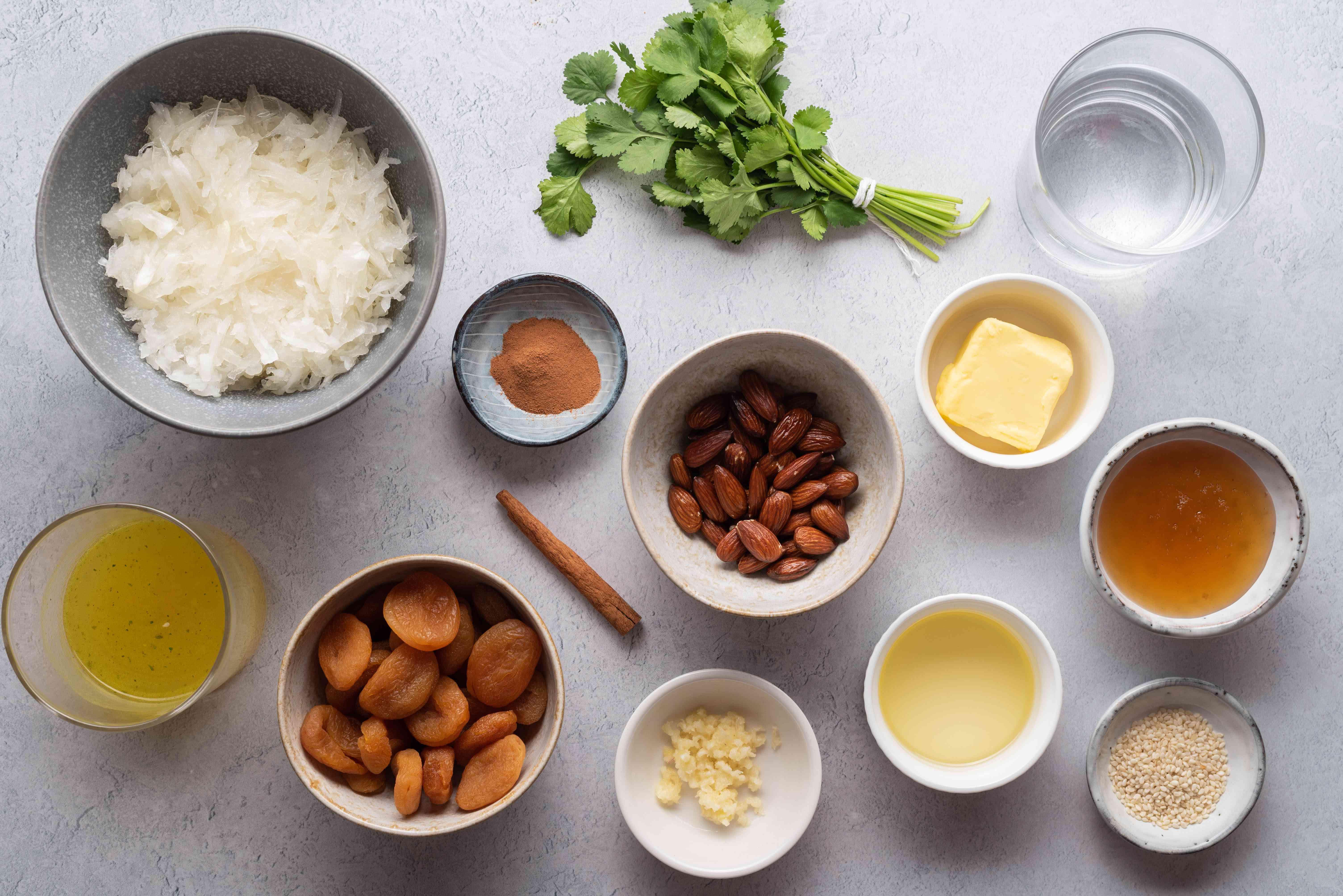 tagine ingredients gathered