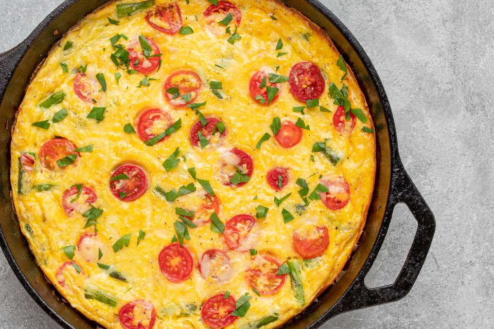 frittata in the skillet