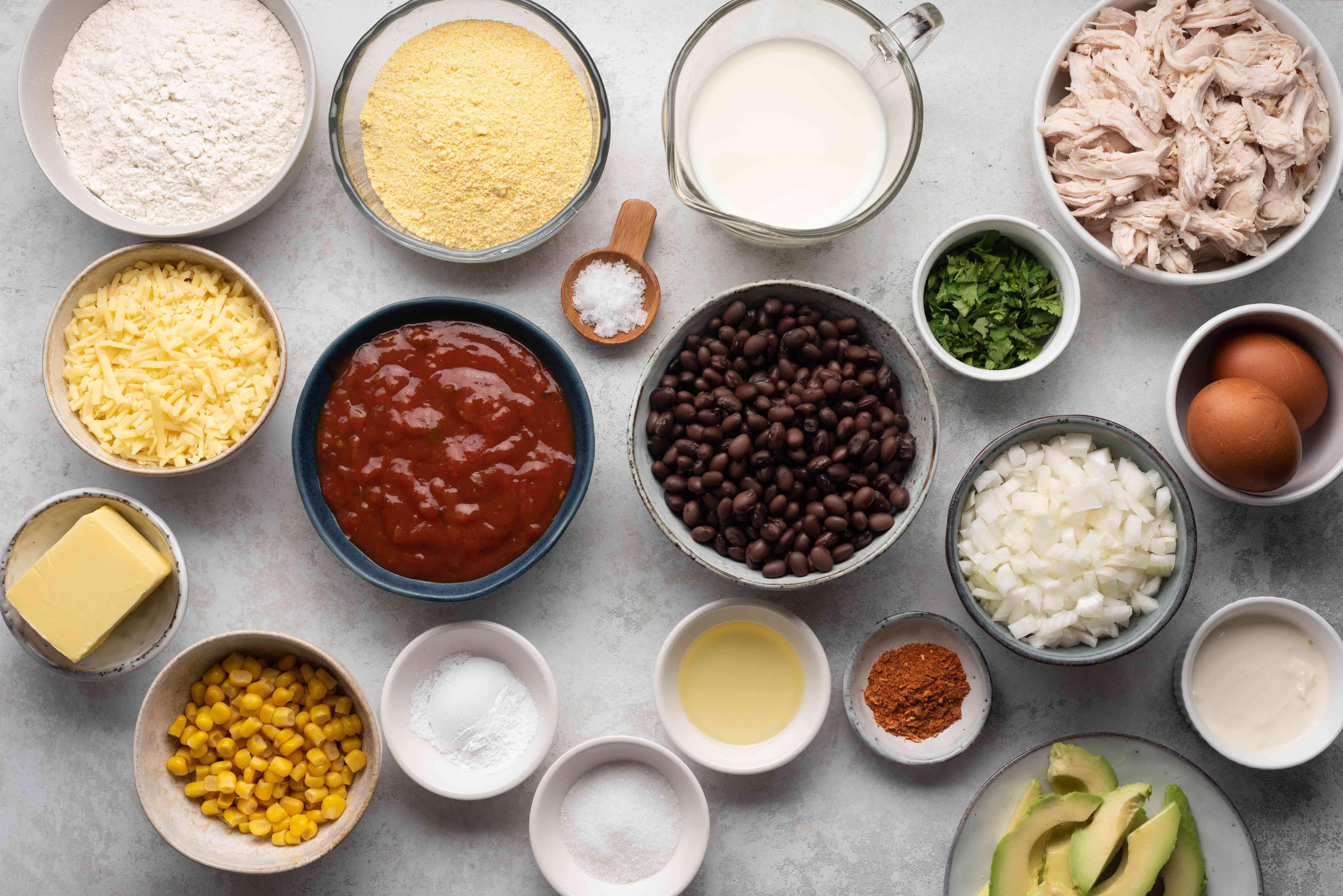 Chicken Tamale Pie ingredients