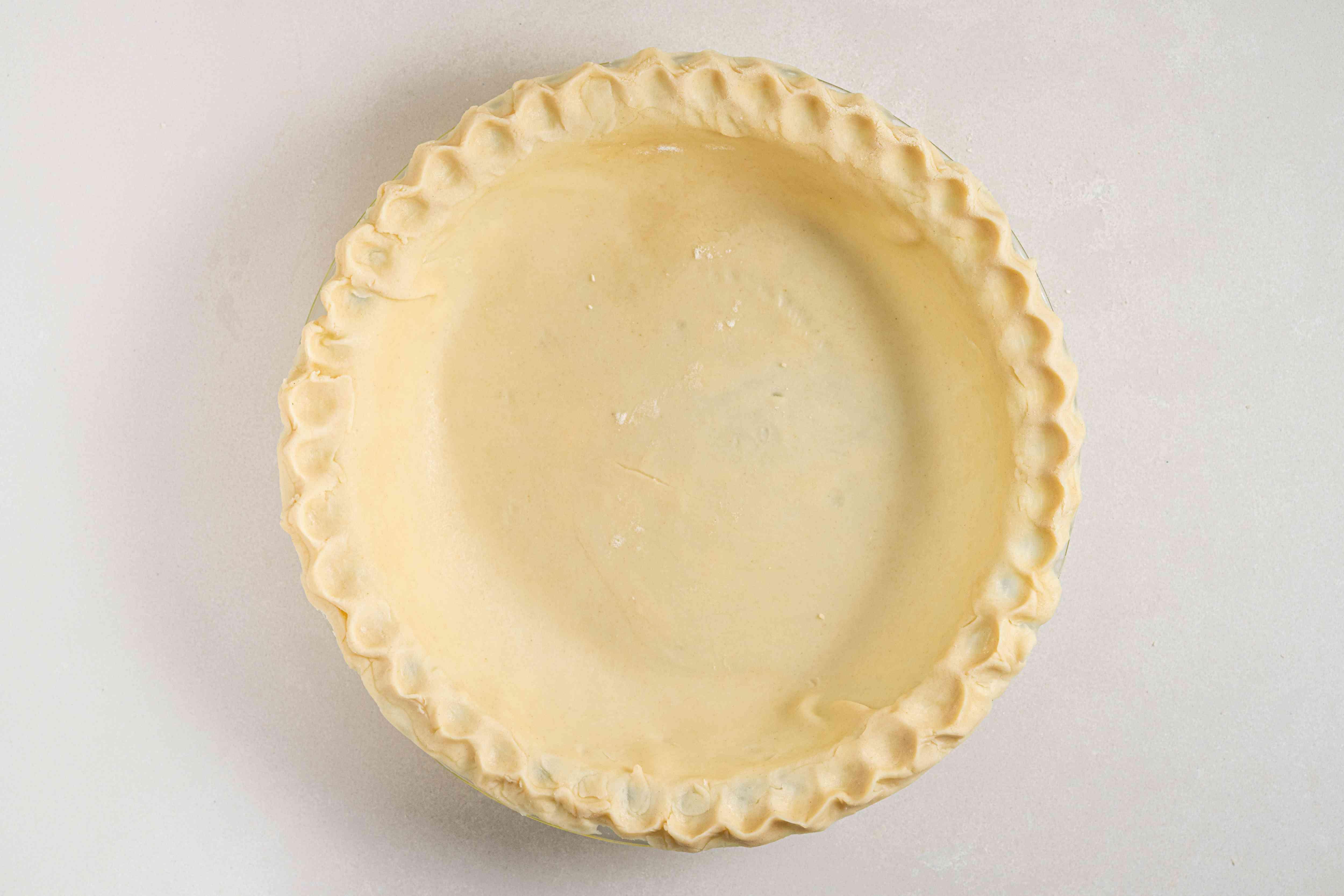 Crimp the pie crust edges