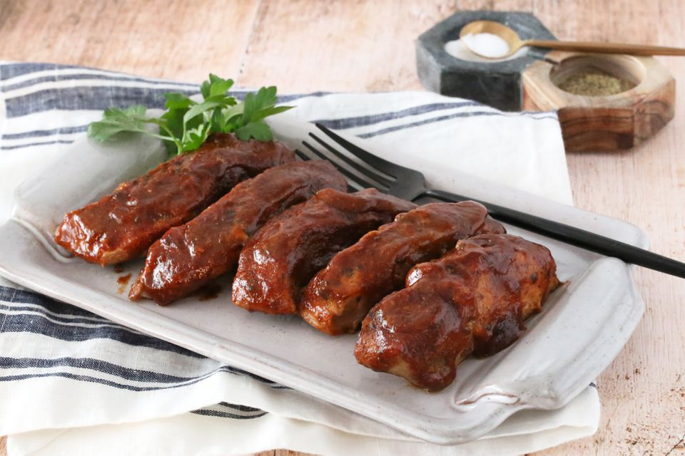 Baked country-style ribs.