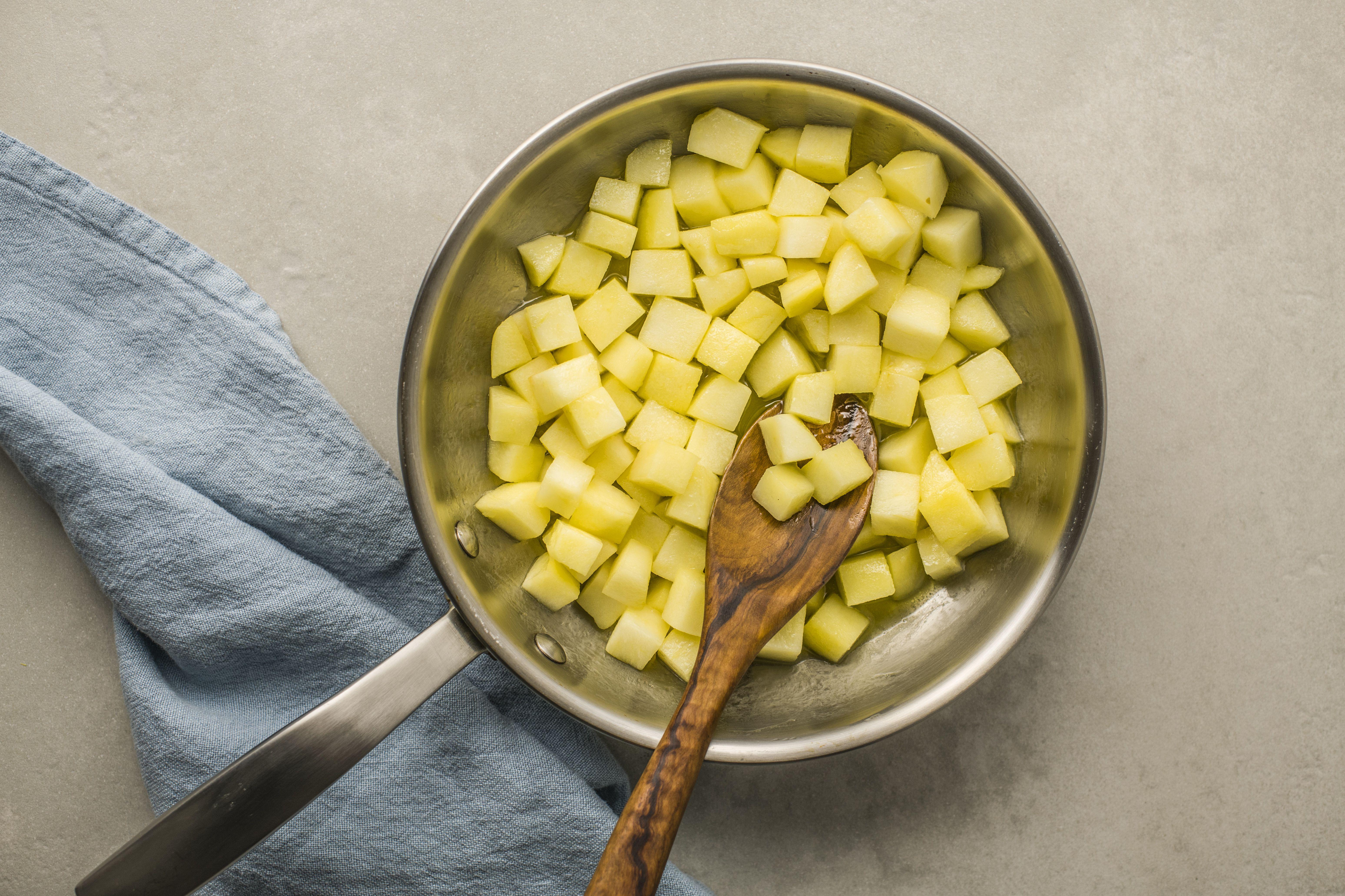 Saute the apples