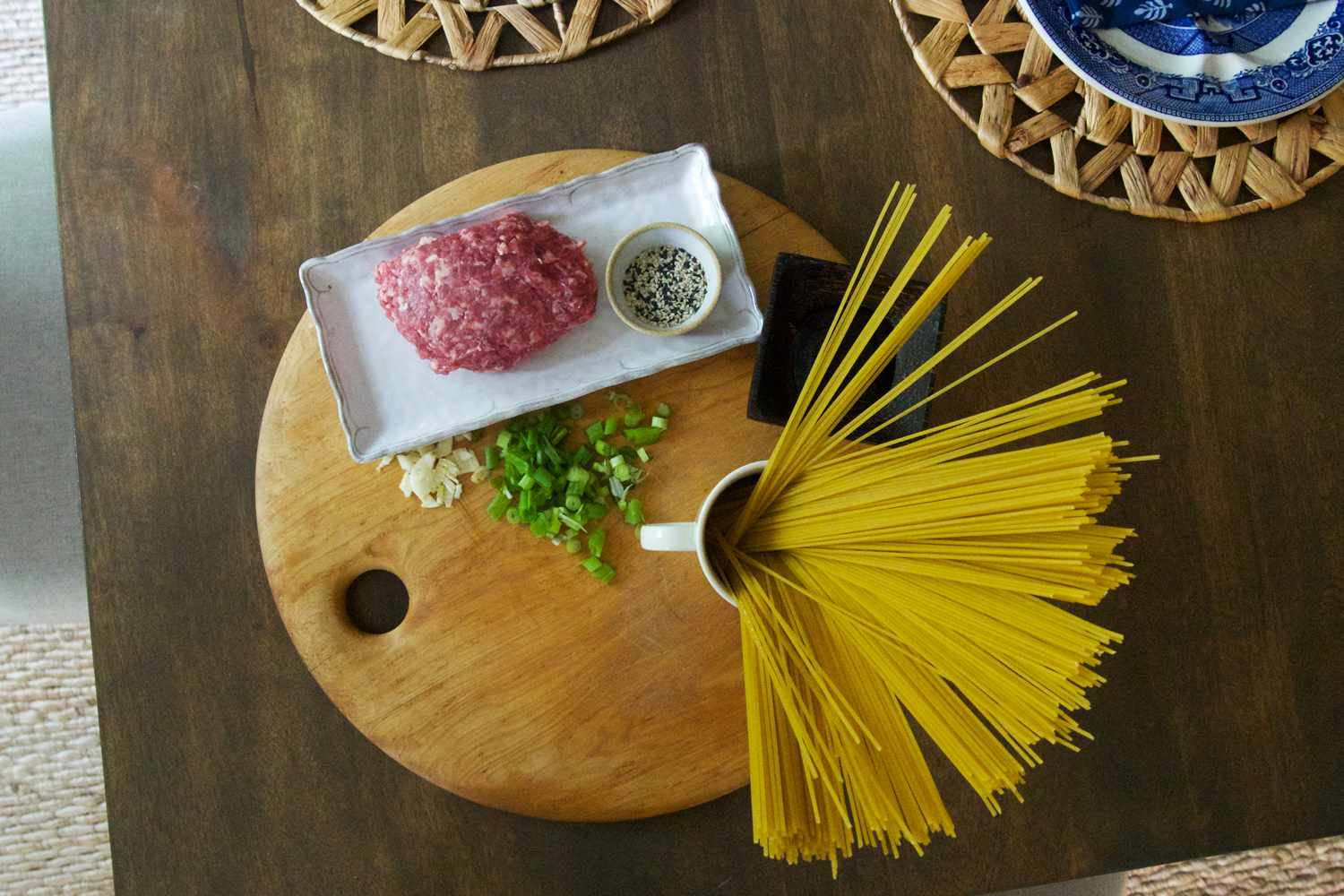Dinnerly ingredients on a table