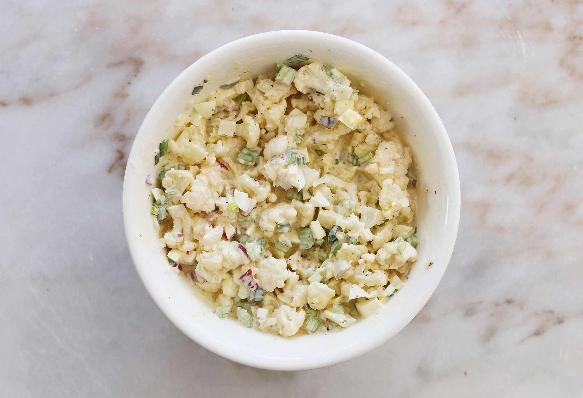 cauliflower potato salad