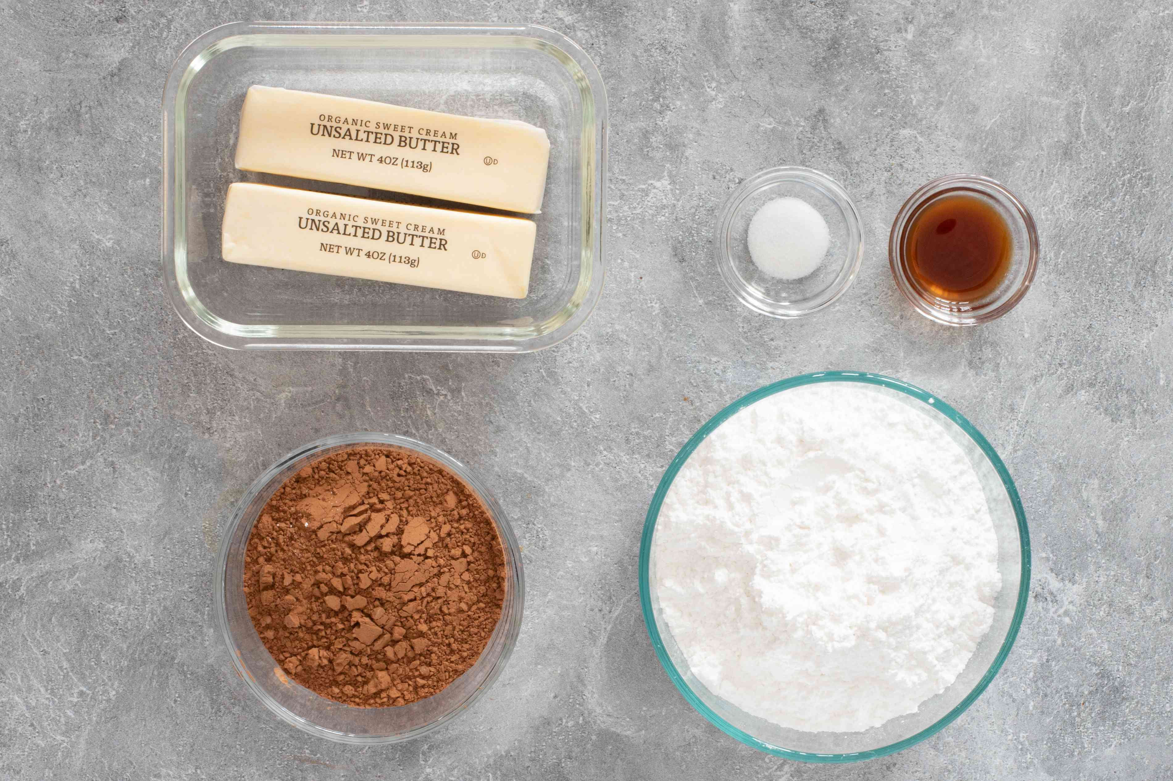 ingredients for chocolate buttercream