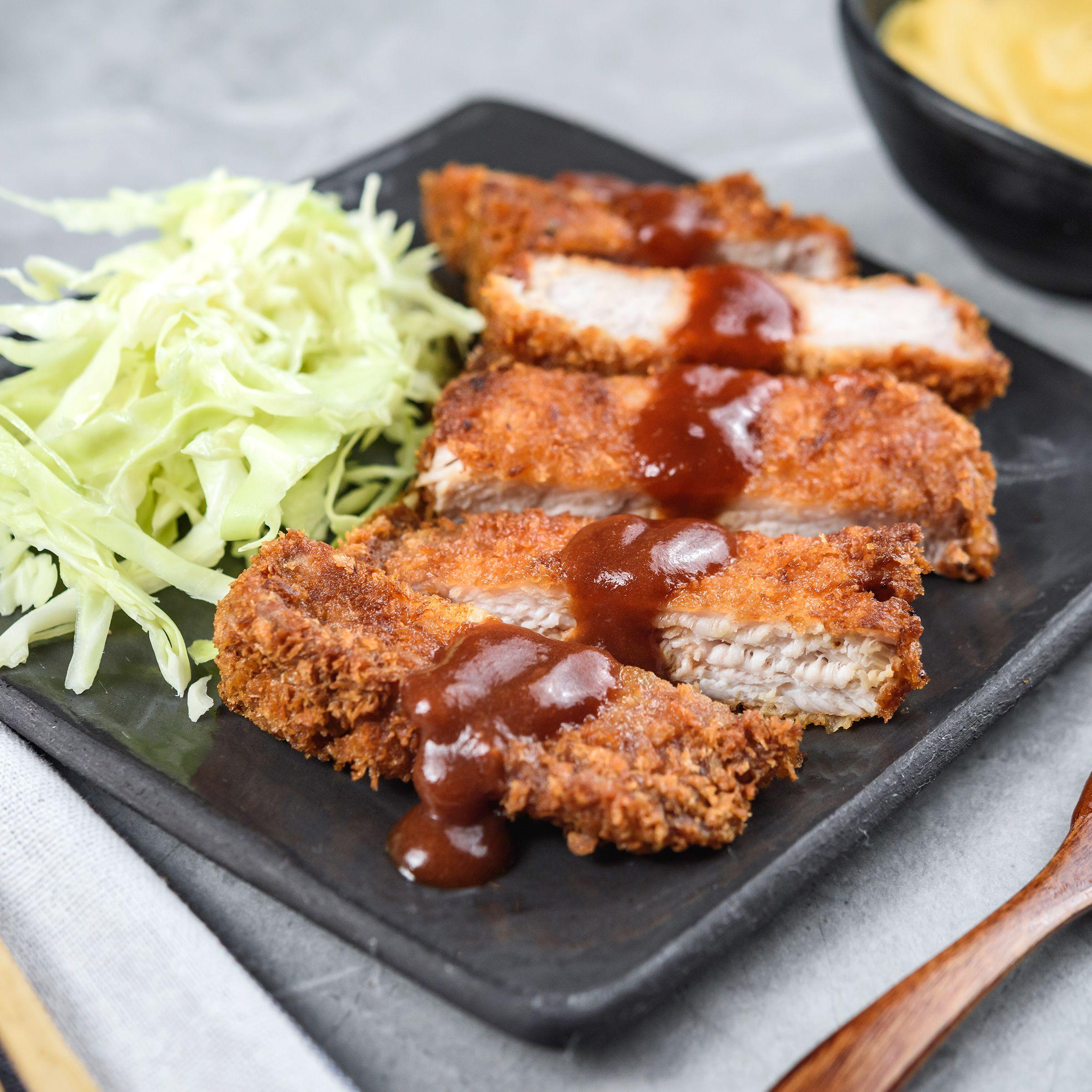 Japanese Fried Pork Cutlet Tonkatsu Recipe