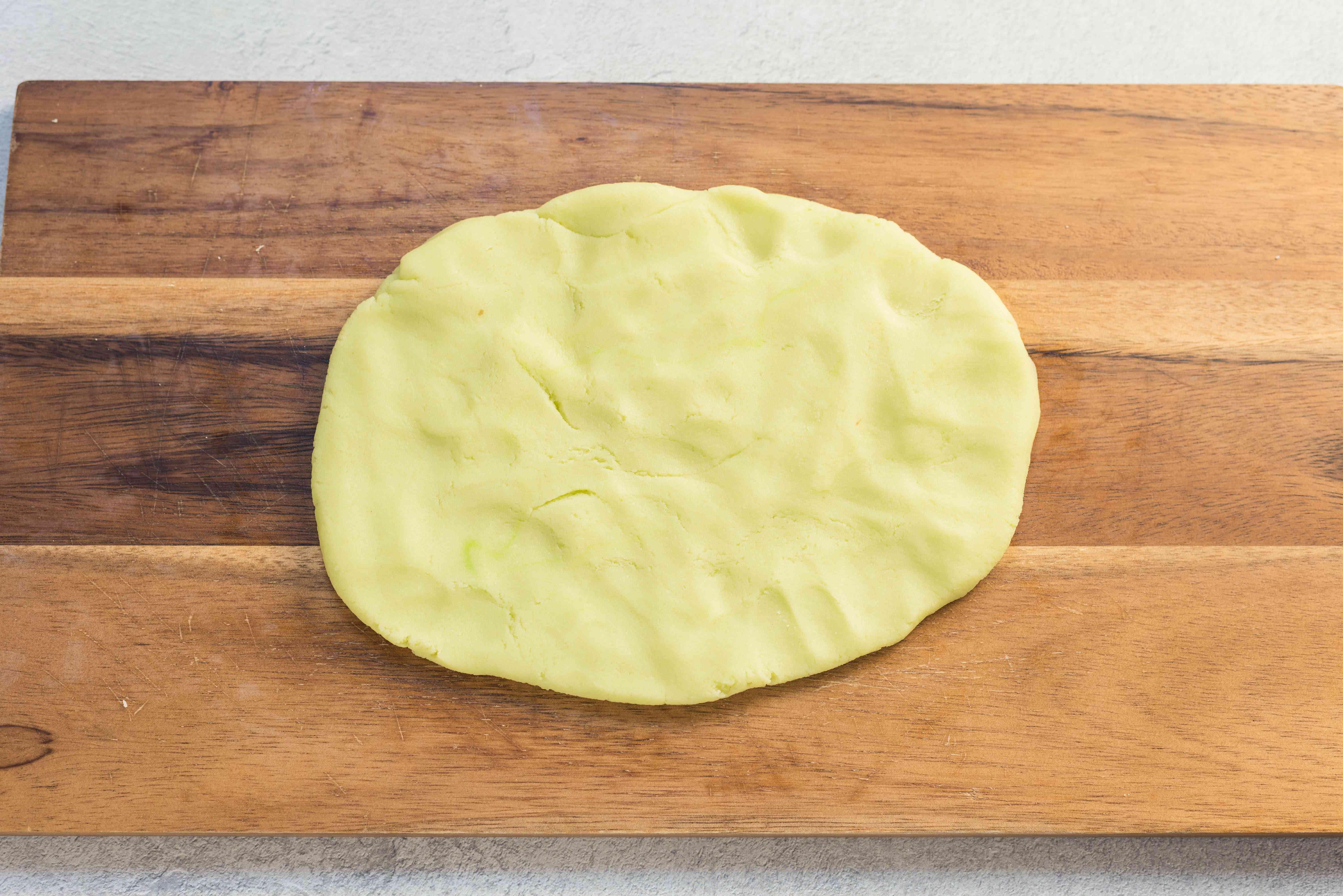 Shape marzipan into a disc