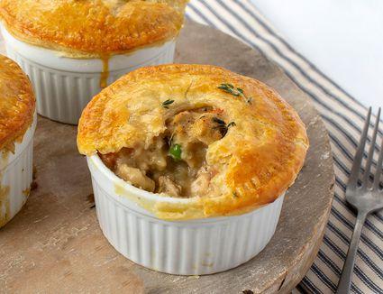 Vegan chicken pot pies