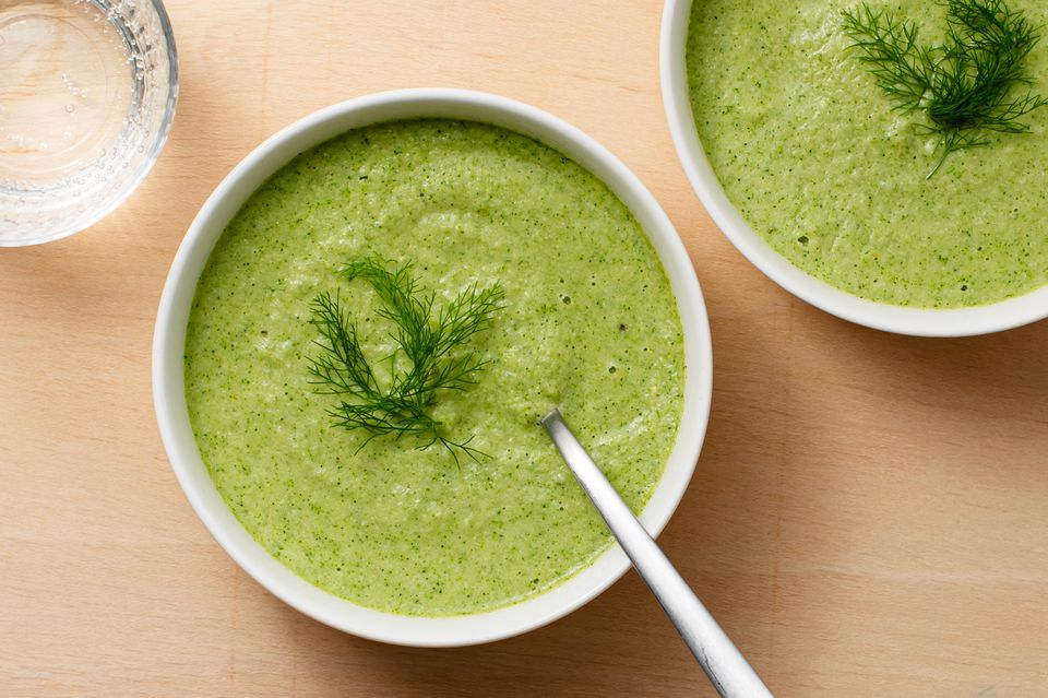 Raw Vegan Cream of Broccoli Soup