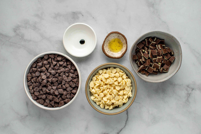 Mint Chocolate Bark ingredinets