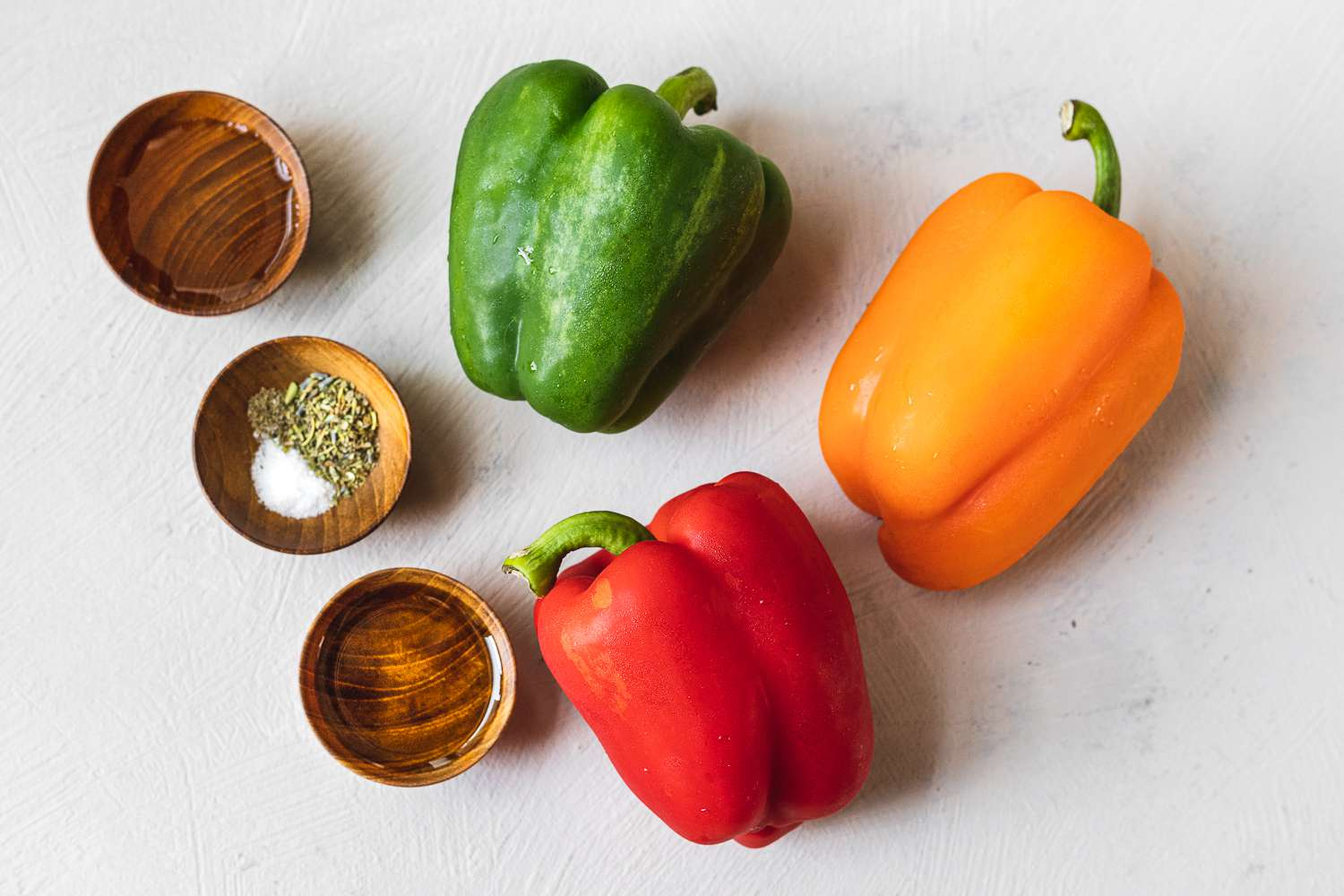 Ingredients for roasted peppers