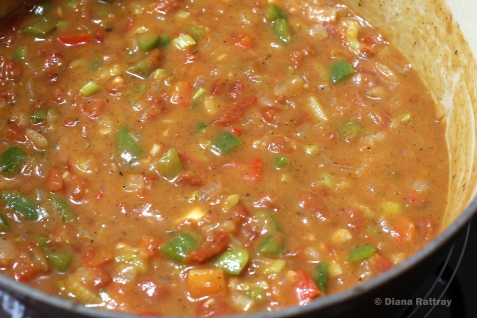 "Gumbo With Cajun & Holy Trinity"" Mirepoix"