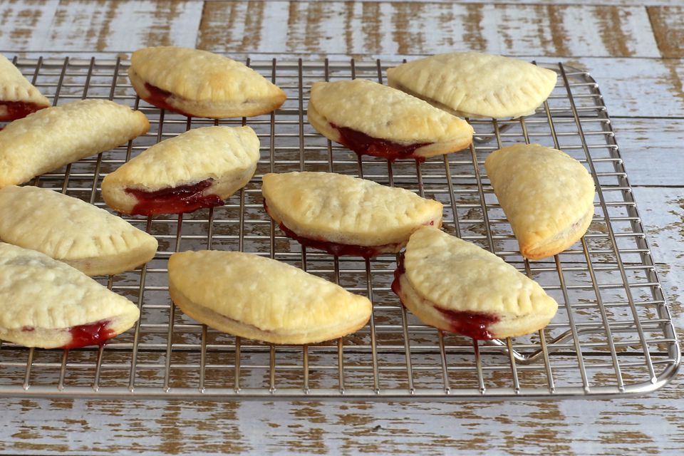 cream cheese crescent cookies with raspberry filling