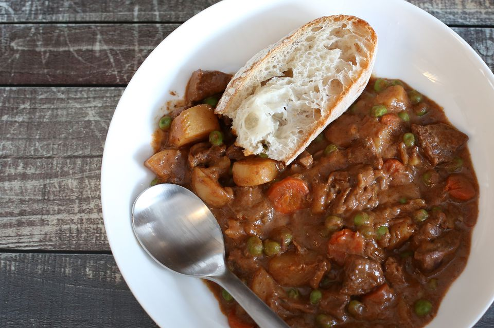 beef and beer stew with vegetables