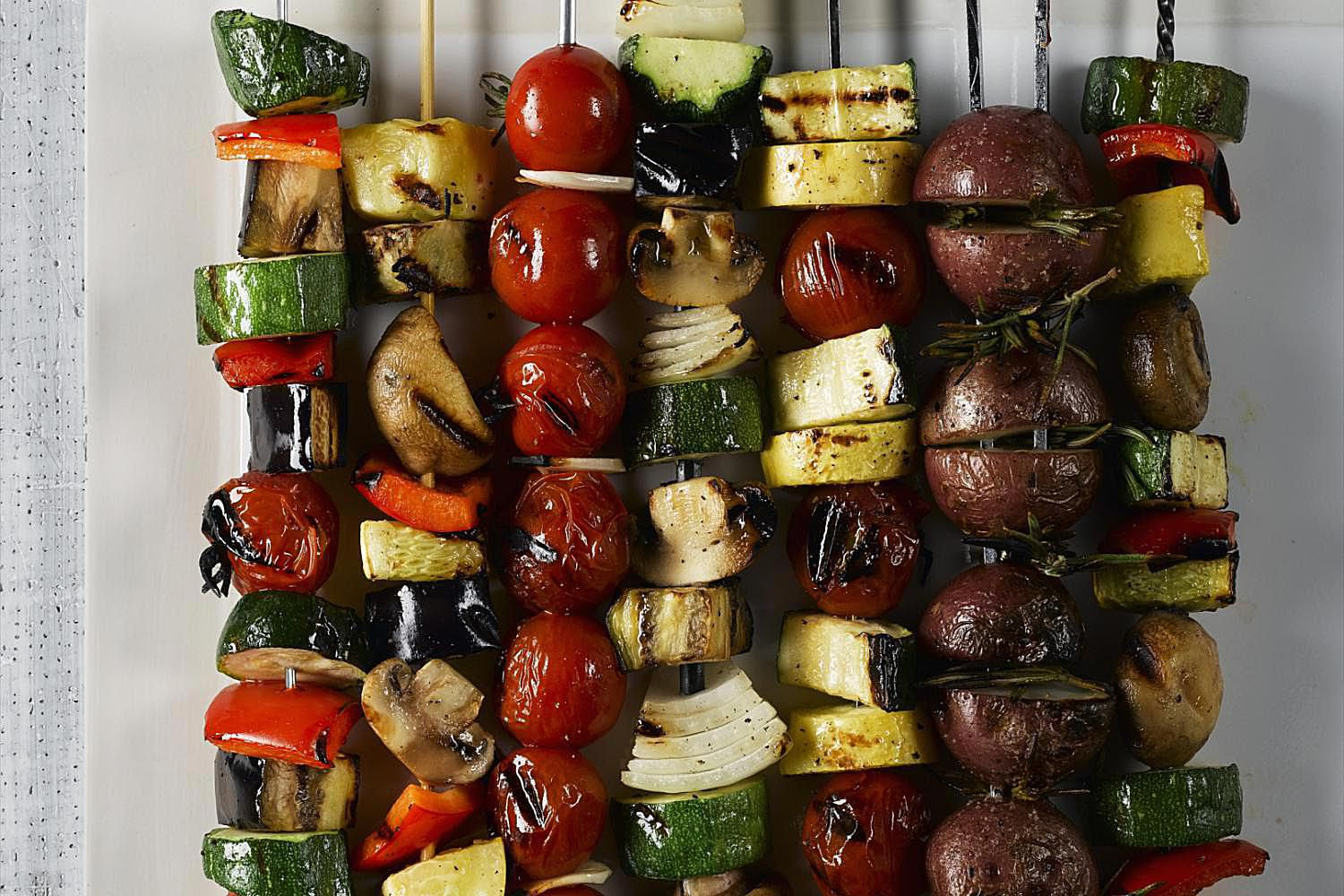 Grilled Vegetable Kebabs are a Delicious and Healthy Summertime Dish