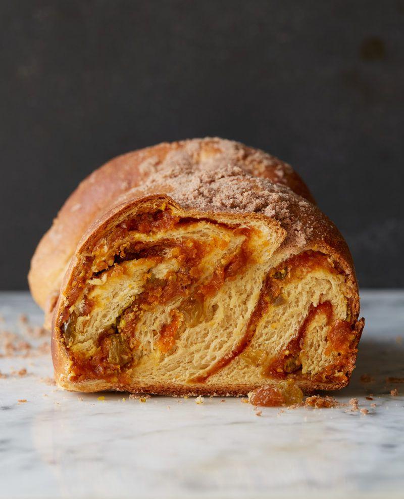 Apricot Pistachio Babka