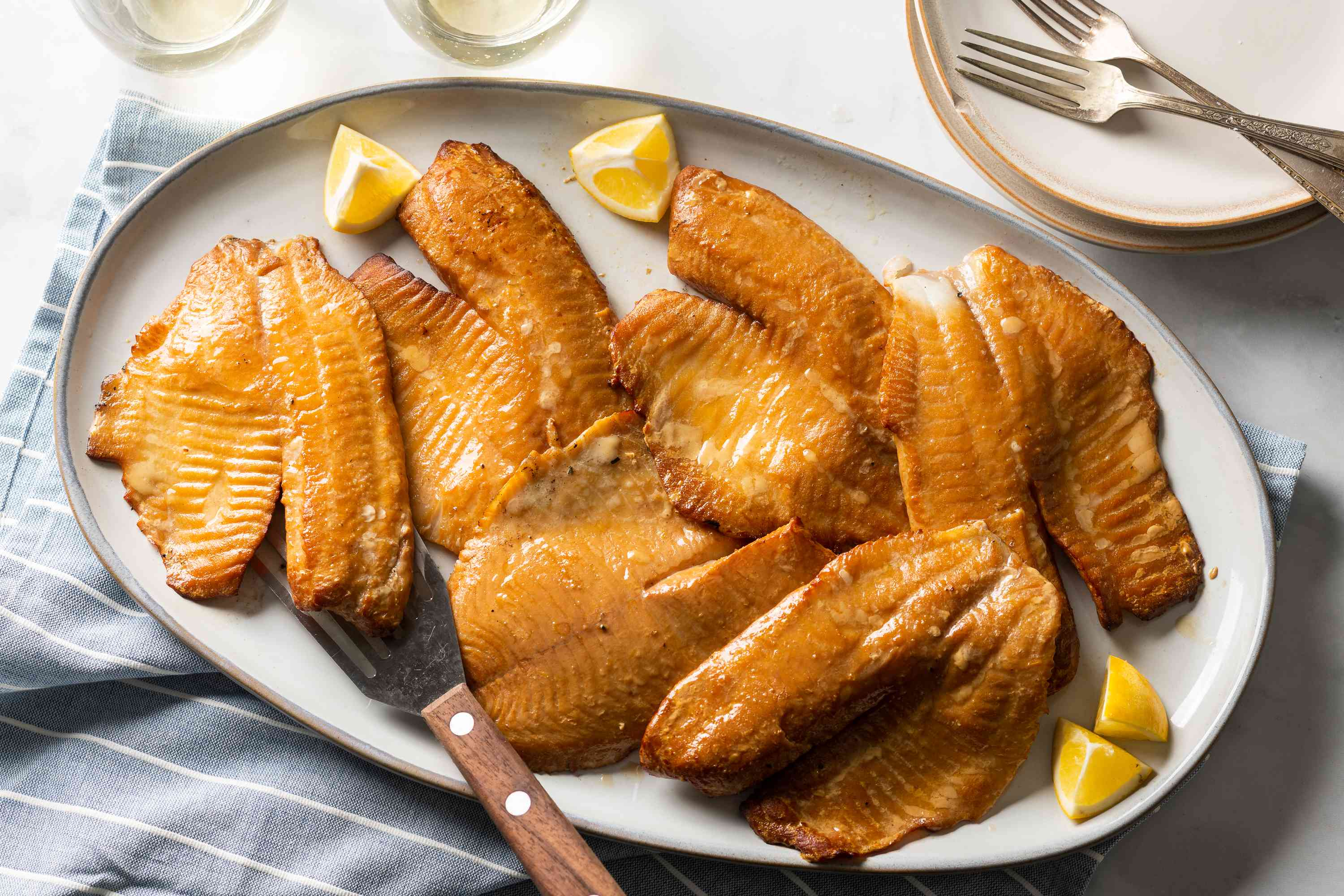 Smoked Tilapia on a serving platter