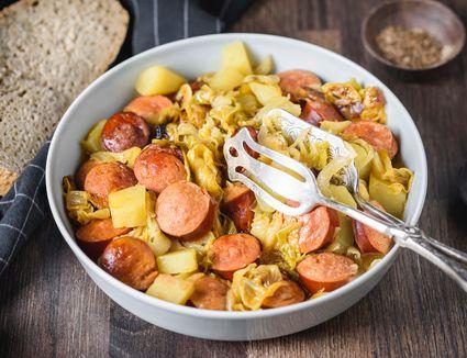 Kielbasa with cabbage recipe