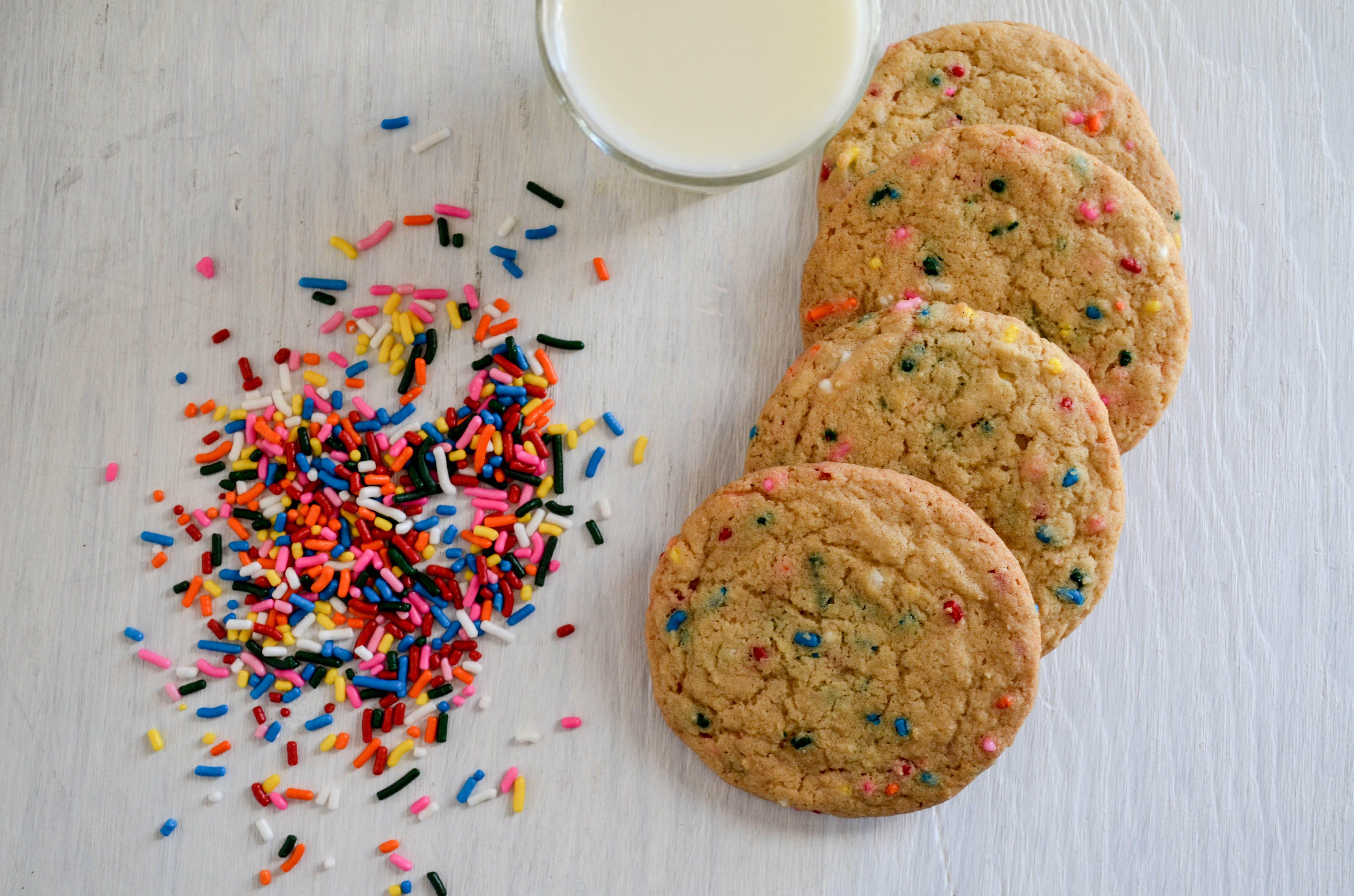 Funfetti Cookies With Milk