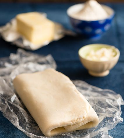 Folded puff pastry dough