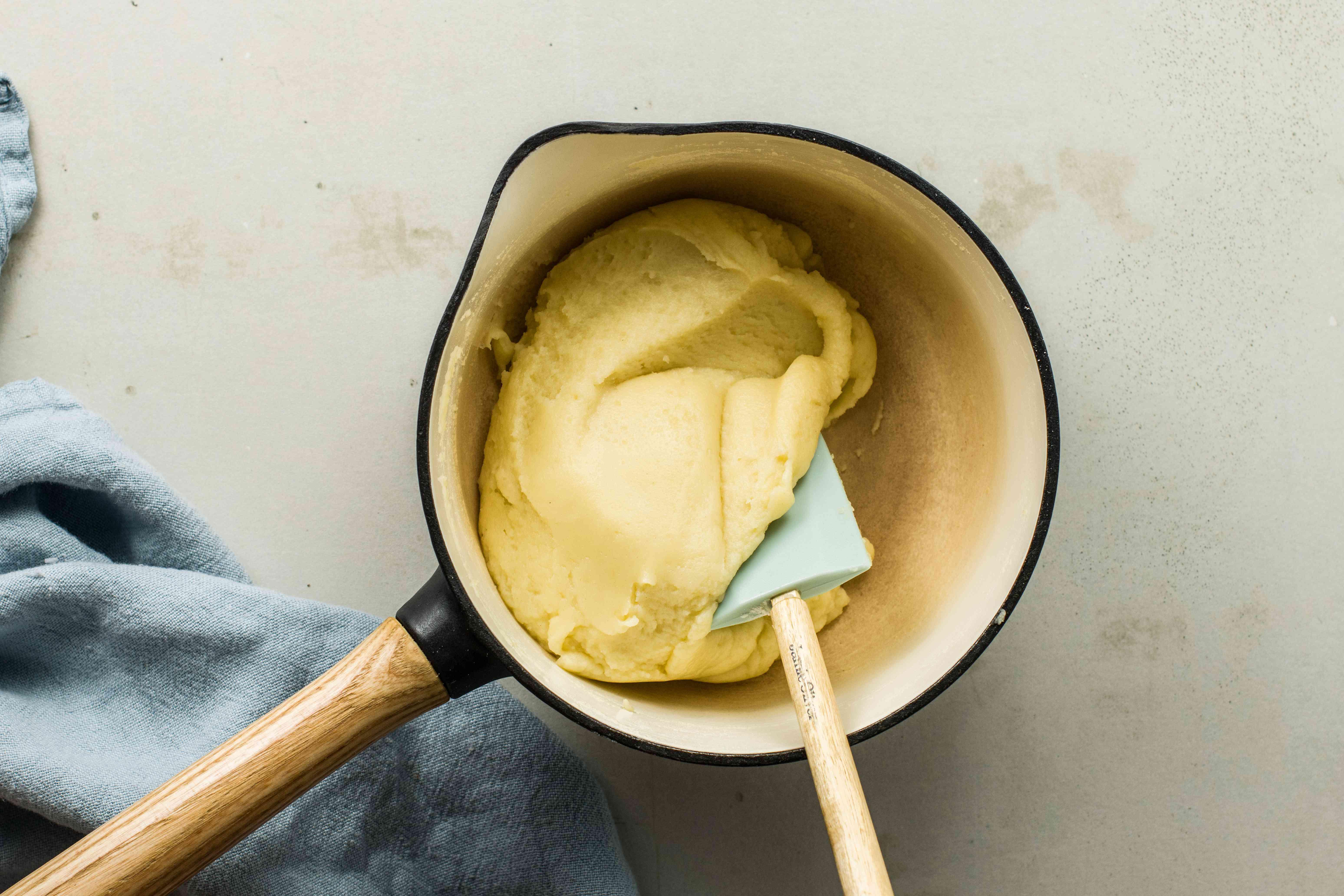 Add salt and flour