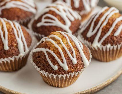Cream cheese glaze on muffins
