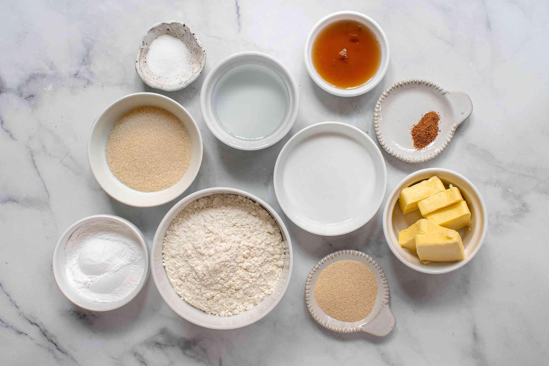Vegan King Cake for Mardi Gras Recipe ingredients
