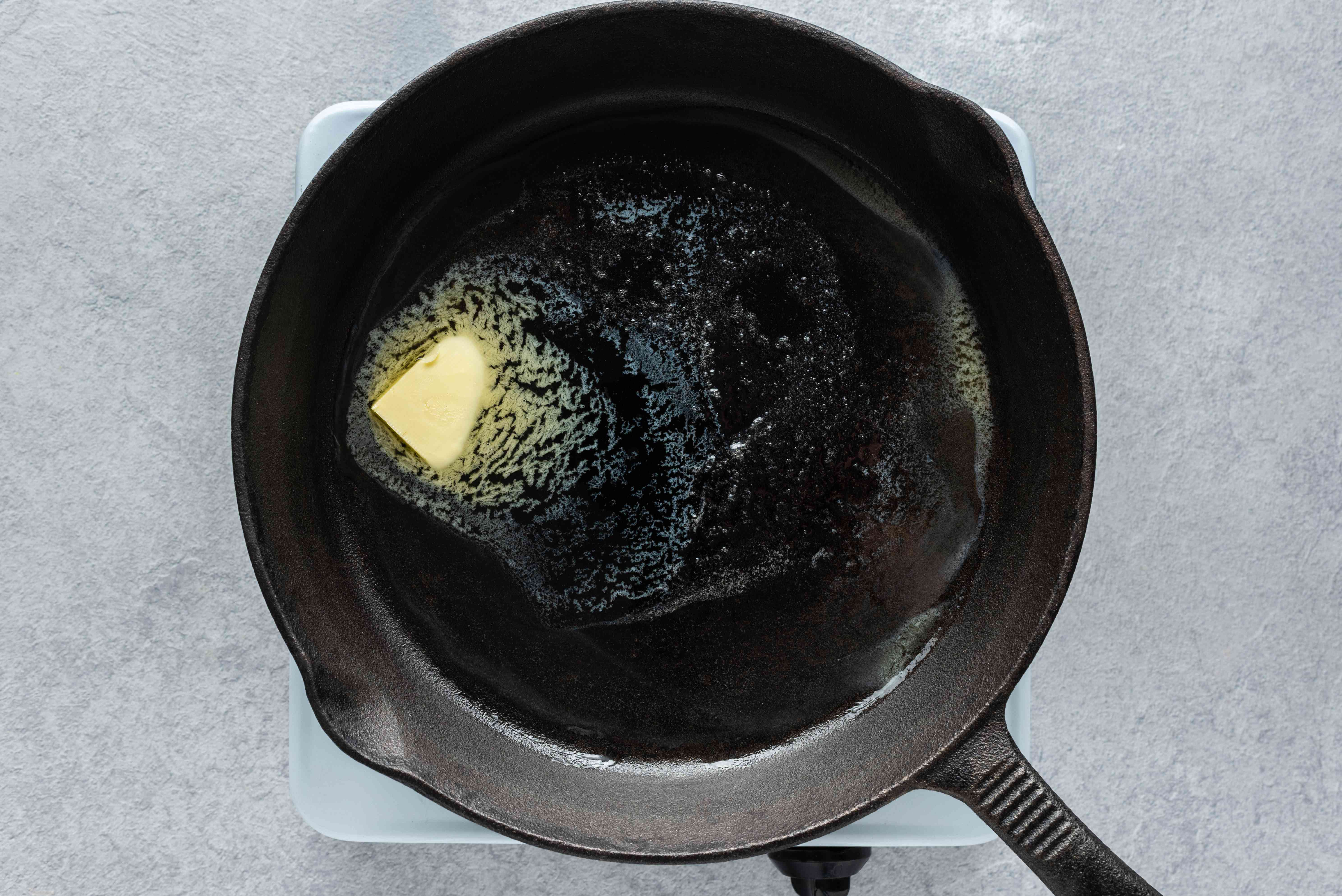 skillet with butter