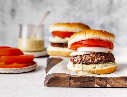 Burgers With Honey Dijon Sauce