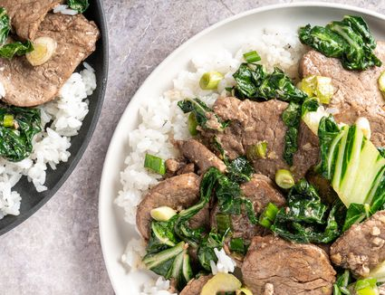 Five-Spice Pork with Bok Choy and Green Onions Recipe