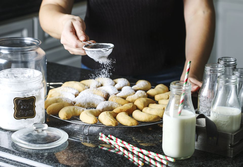 Making a Traditional Christmas cookies