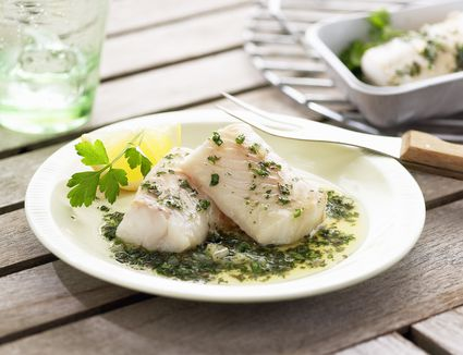 Cod fillets Lemon and Chive Sauce
