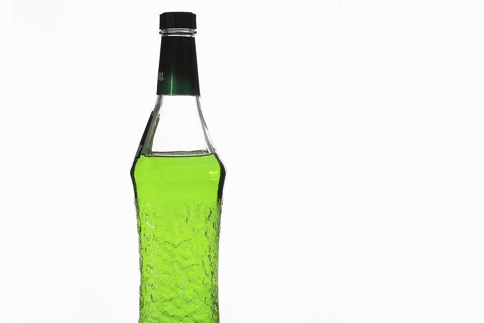 Bottle of Midori Liqueur
