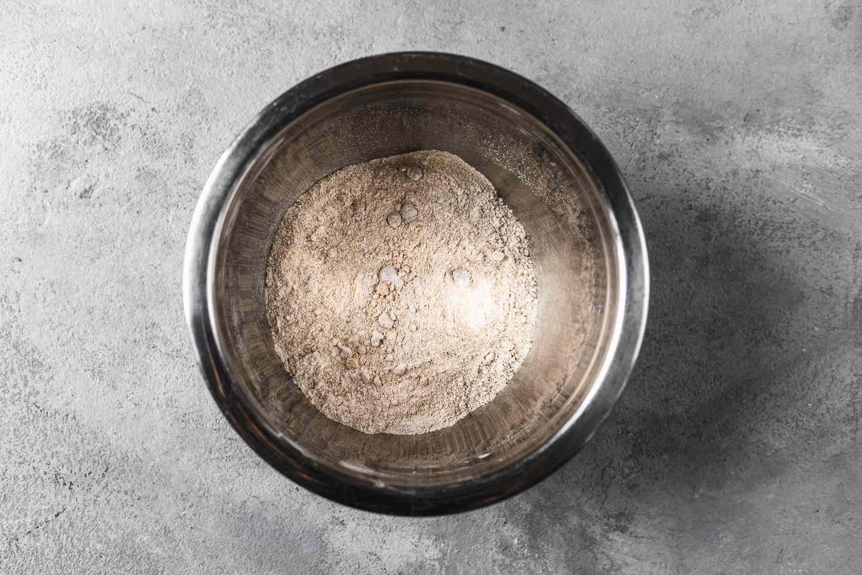 flour, brown sugar, and cinnamon in a bowl