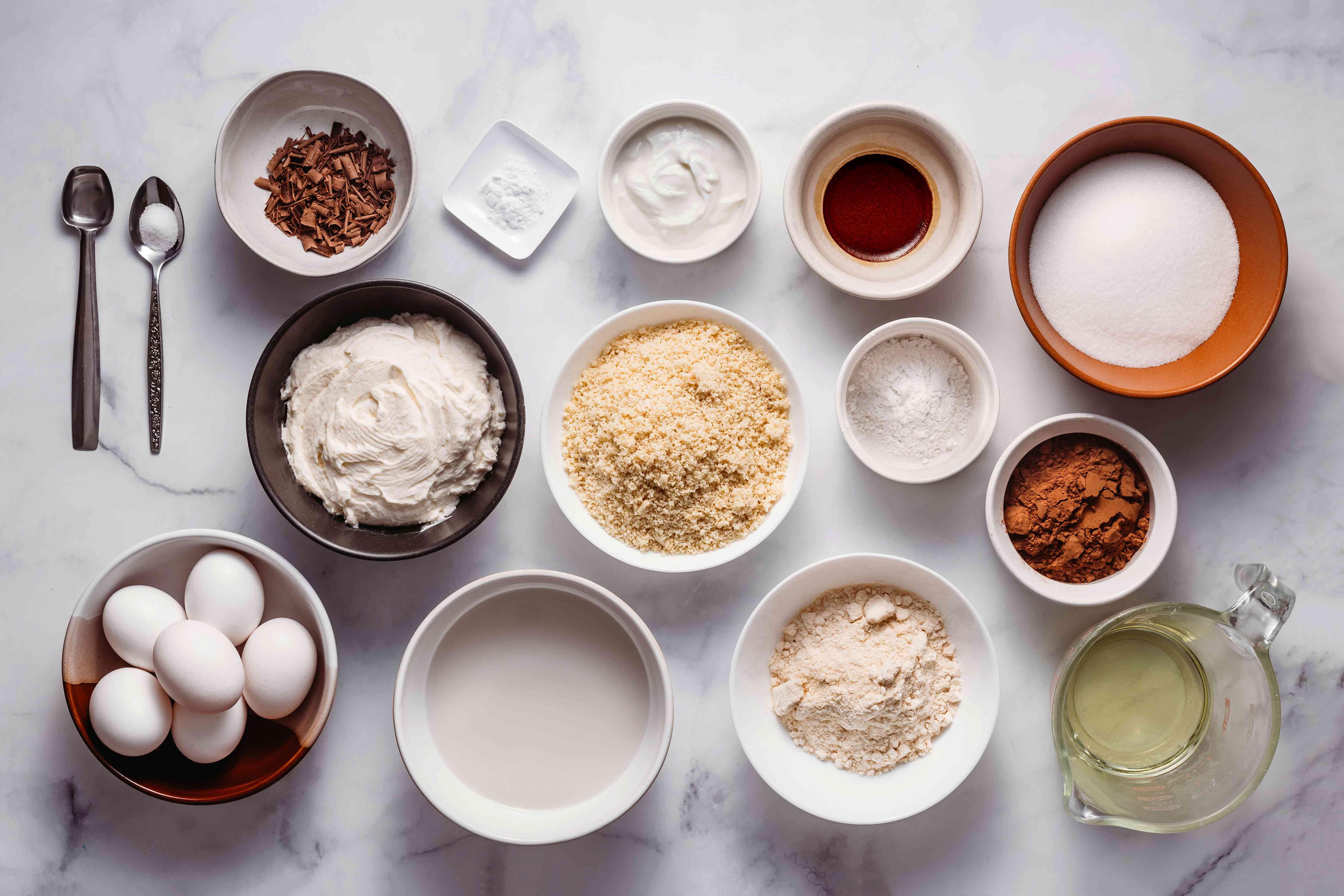 Chocolate Keto Birthday Cake ingredients
