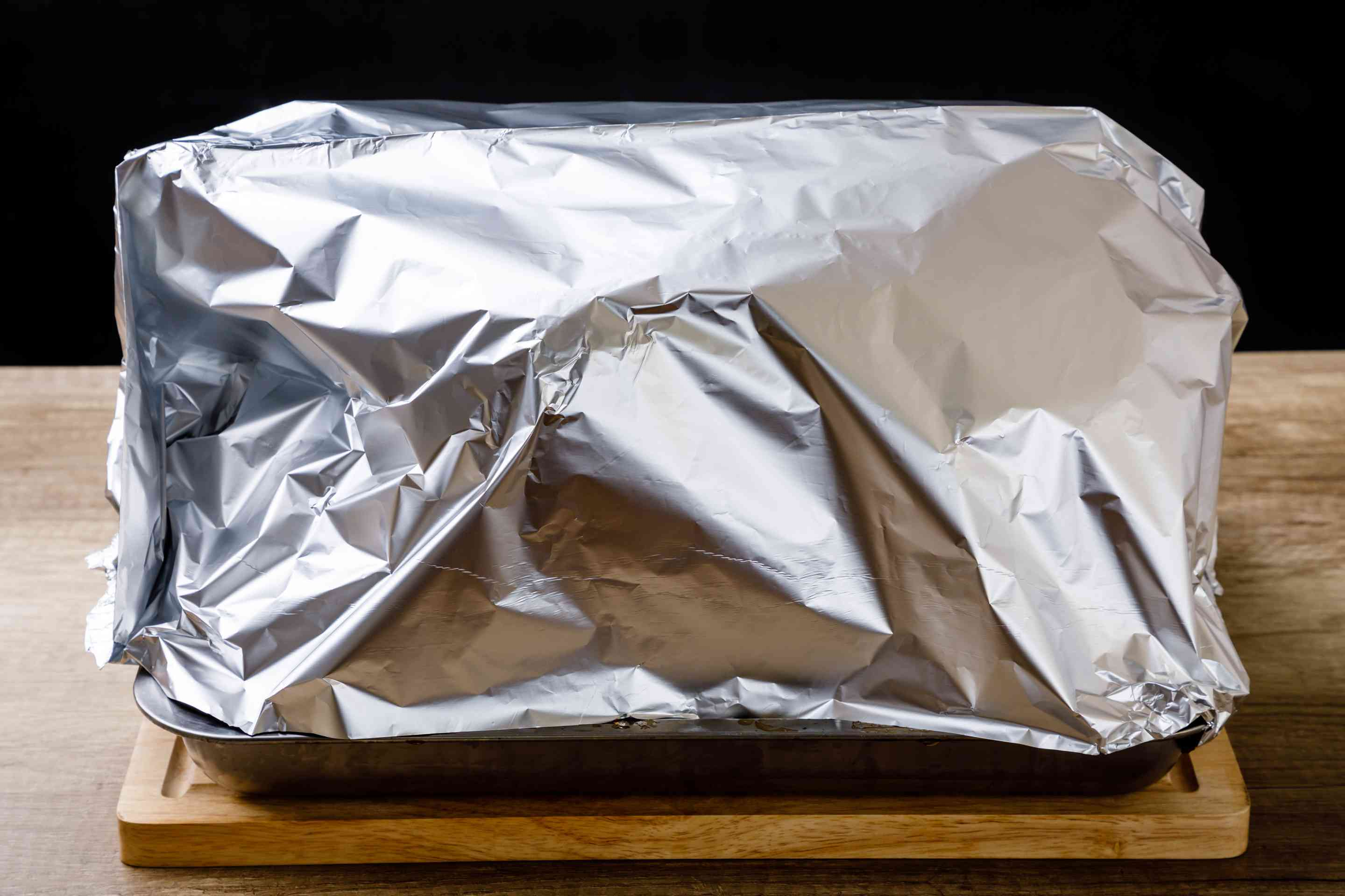 Cover turkey with foil