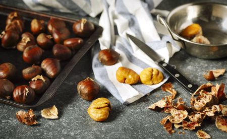 Pureed, Dried and Shelled Chestnuts Measurements