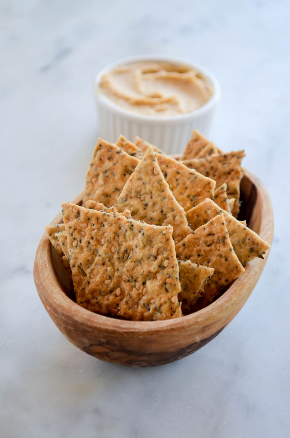 seeded sourdough crackers