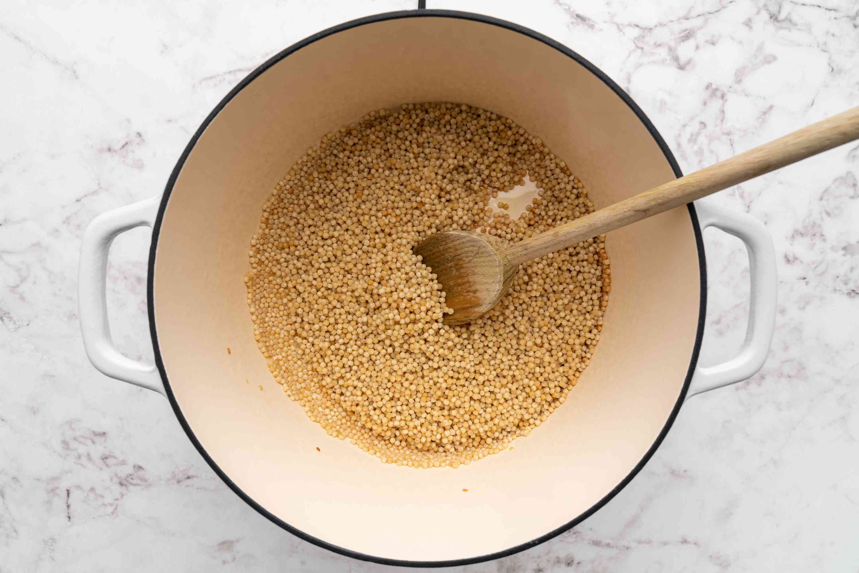 couscous in a saucepan