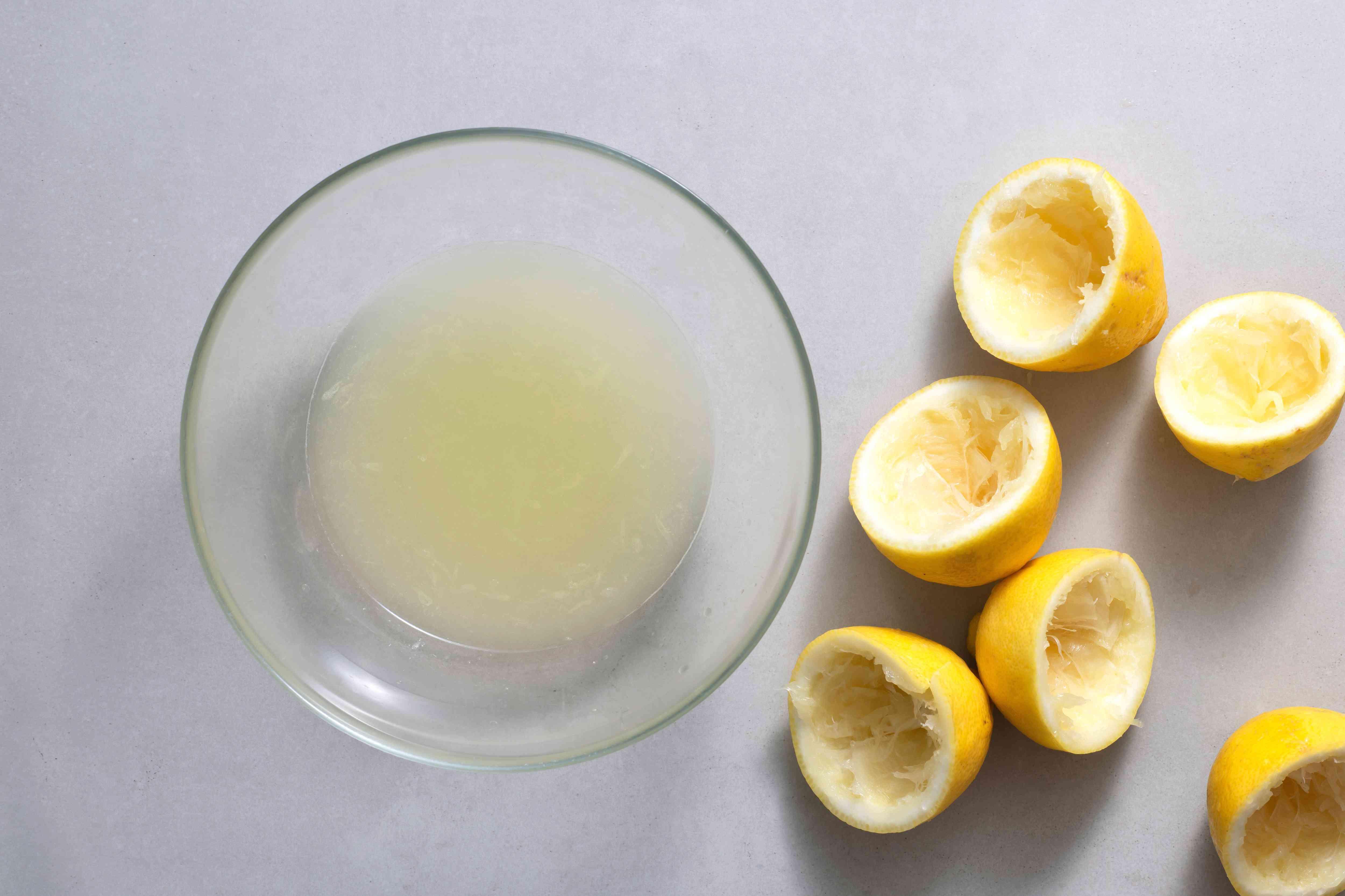 lemon juice in a bowl