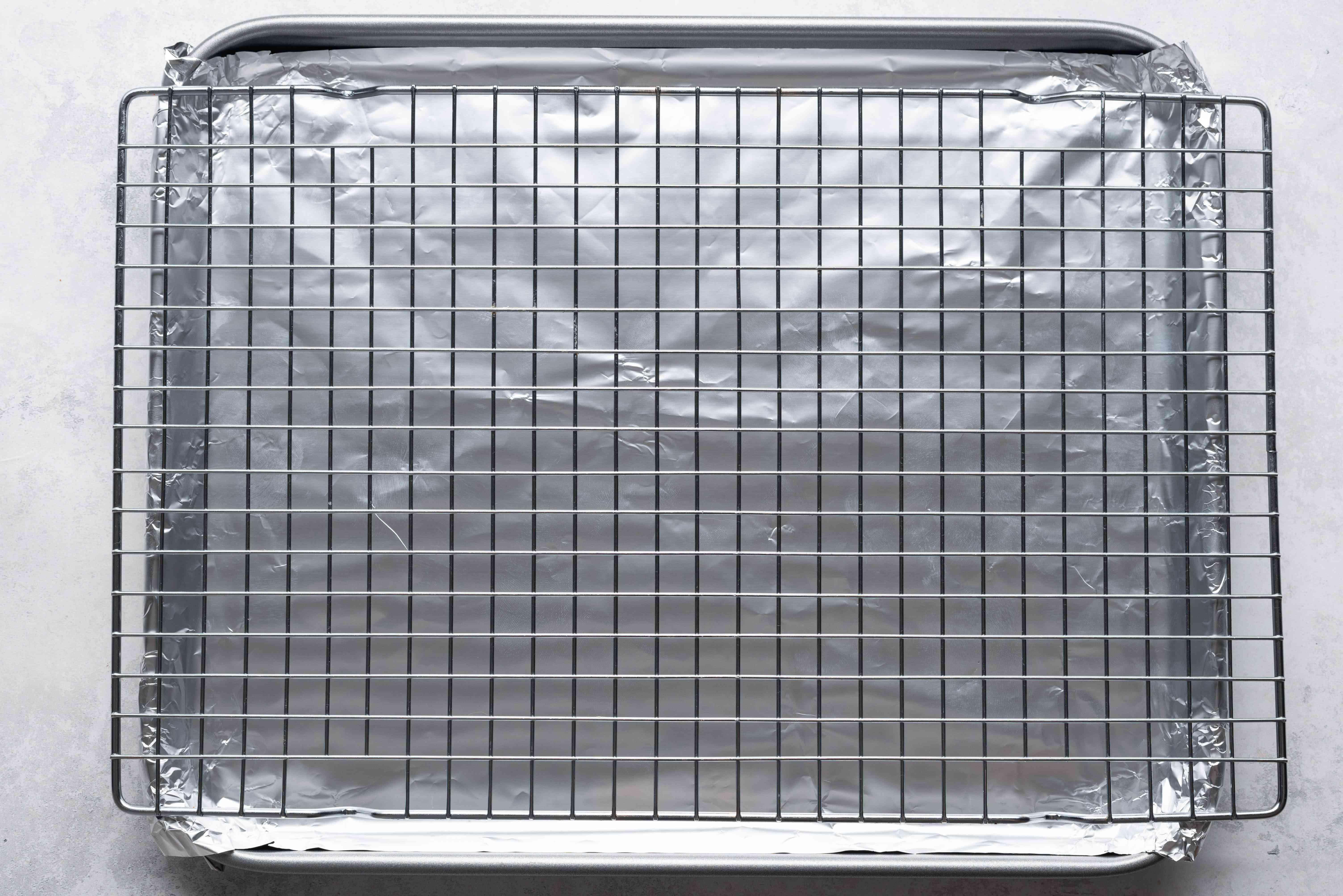 Cooling rack on a baking sheet